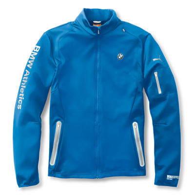 Мужская куртка BMW Men's Athletics Softshell Jacket Blue