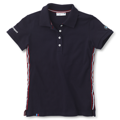 Женская рубашка-поло BMW Ladies' Motorsport Fan Polo Shirt Dark Blue