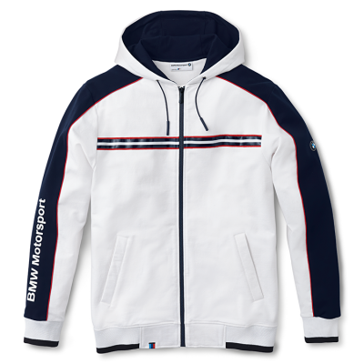 Мужская спортивная куртка BMW Men's Motorsport Hooded Sweat Jacket White