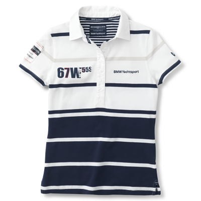 Женская рубашка-поло BMW Ladies' Poloshirt Yachting White Blue