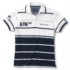 Мужская рубашка-поло BMW Men's Yachting Polo Shirt White Blue