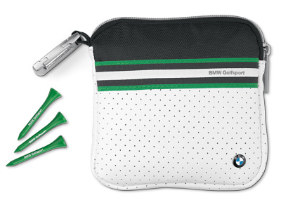 Сумочка с ти для гольфа BMW Golfsport Golf Tees With Bag White