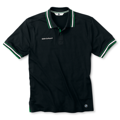 Мужская рубашка-поло BMW Men's Functional Golfsport Polo Shirt Black