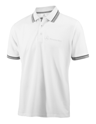 Мужская рубашка-поло Mercedes-Benz Men's Poloshirt Logo-Stick, White