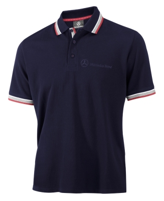 Мужская рубашка-поло Mercedes-Benz Men's Poloshirt Logo-Stick, Navy