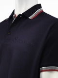 Мужская рубашка-поло Mercedes-Benz Men's Poloshirt Logo-Stick, Navy, артикул B66951935