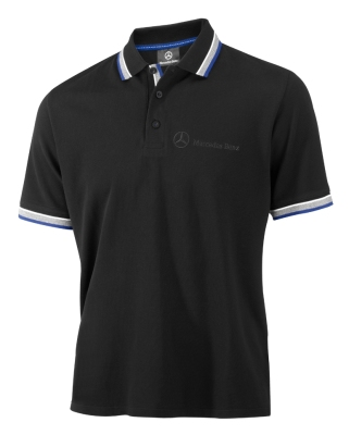 Мужская рубашка-поло Mercedes-Benz Men's Poloshirt  Logo-Stick, Black