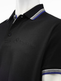 Мужская рубашка-поло Mercedes-Benz Men's Poloshirt  Logo-Stick, Black, артикул B66951750