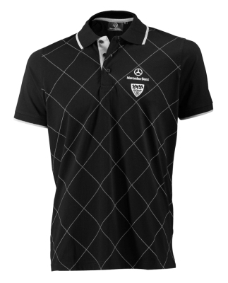 Мужская рубашка-поло Mercedes-Benz Men's Poloshirt VfB, Black