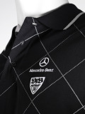 Мужская рубашка-поло Mercedes-Benz Men's Poloshirt VfB, Black, артикул B66957850