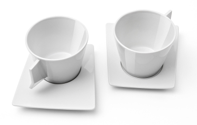 Кофейная пара Skoda Cappuccino set 2 pieces, White