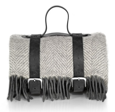 Шерстяной плед Audi Woollen blanket with strap, grey