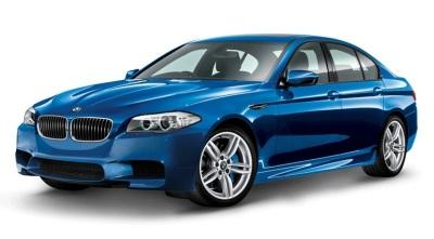 Модель автомобиля BMW M5 (F10), Monte Carlo Blue, Scale 1:18