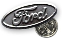 Значок Ford Oval Pin Silver