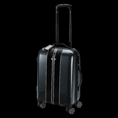 Чемодан Mini Rooftop Cabin Trolley Royal Grey With Black Racing Stripes