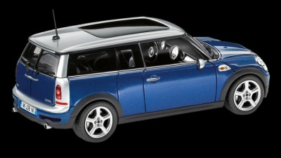 Модель автомобиля Mini Cooper Clubman Lightning Blue, Scale 1:87