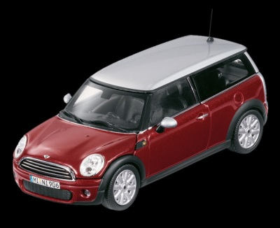 Модель автомобиля Mini Cooper Clubman Nightfire Red, Scale 1:87