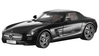 Модель Mercedes-Benz SLS AMG, Black, Scale 1:18