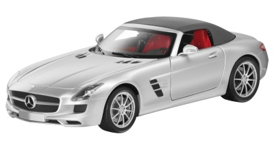 Модель Mercedes-Benz SLS AMG Roadster, Silver, Scale 1:18