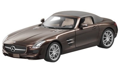 Модель Mercedes-Benz SLS AMG Roadster, Brown, Scale 1:18