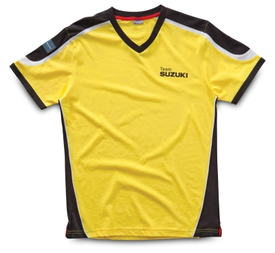 Футболка Suzuki V-Neck T-Shirt, Yellow black