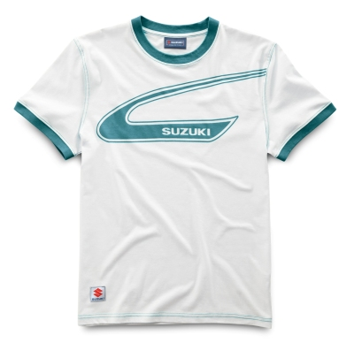 Мужская футболка Suzuki TM250 Tank Design T-Shirt, White with green