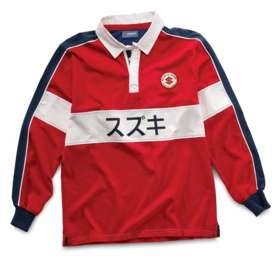 Мужская рубашка Suzuki Men's Motor Co Rugby Shirt, Red