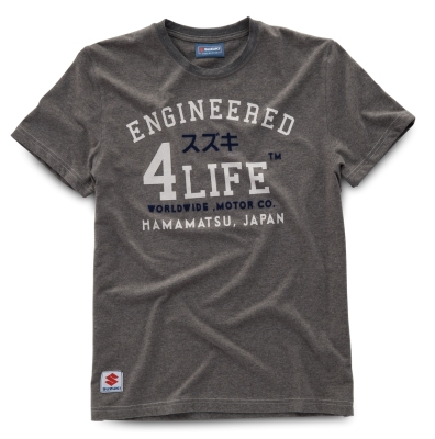 Мужская футболка Suzuki Men's Engineered 4 Life T-Shirt, Grey