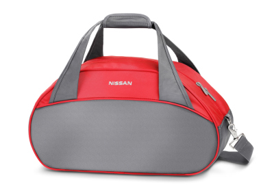 Спортивная сумка Nissan Sports Bag, Grey-Red