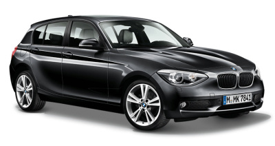 Модель автомобиля BMW 1 Series Five-Door (F20) Black Sapphire, Scale 1:18