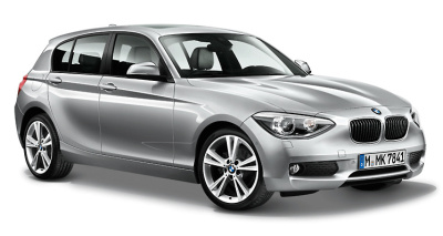 Модель автомобиля BMW 1 Series Five-Door (F20) Glacier Silver, Scale 1:18