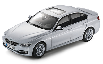 Модель автомобиля BMW 3 Series Saloon Glacier Silver, Scale 1:18