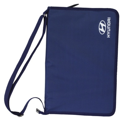 Папка для документов на молнии Hyundai Document Case, Blue