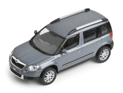 Модель автомобиля Skoda Yeti model in 1:43 scale, platin grey
