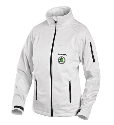 Женская куртка Skoda Women's white softshell jacket