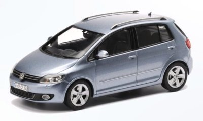 Модель автомобиля Volkswagen Golf Plus, Scale 1:43, Grey Blue