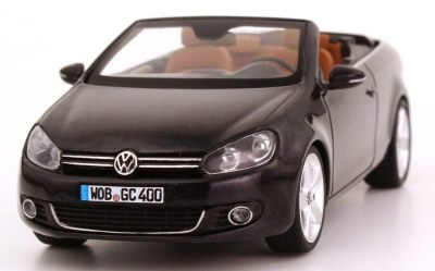 Модель автомобиля Volkswagen Golf Cabriolet, Scale 1:43, Dark Purple Metallic