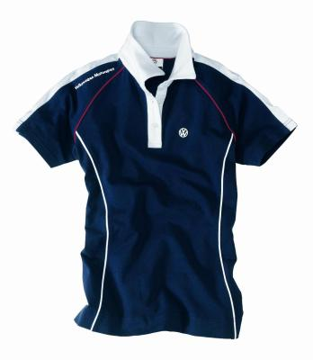 Женская рубашка поло Volkswagen ladies Polo Shirt Motorsport, Blue