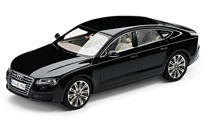 Модель автомобиля Audi A7 Sportback Phantom Black, Scale 1 43