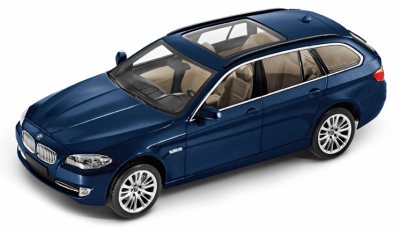 Модель BMW 5 серии, седан, BMW 5 Series Touring Blue, Scale 1:43