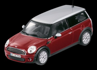 Модель автомобиля Mini Cooper Clubman Nightfire Red 1:43