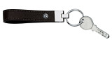 Брелок Volkswagen Metall Key Chain Leather Black, артикул 000087011DAPG
