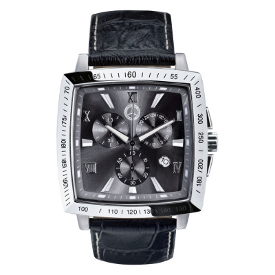 Мужской хронограф Mercedes-Benz Carre Chronograp Watch Black