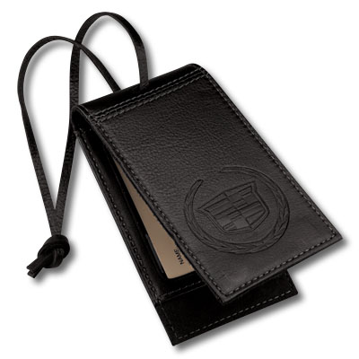 Багажная бирка Cadillac Luggage Tag Black Leather