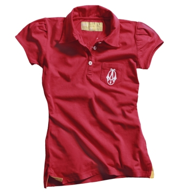 Женское поло Opel Women´s Polo red - Opel historic logo (Casual Line)