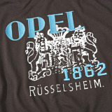 Мужская футболка Opel Men´s Tee brown, Opel Rüsselsheim coat of arms 1862 (Casual Line), артикул 1840191