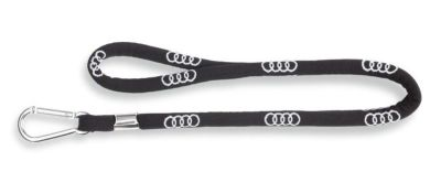 Шнурок для ключей Audi rings lanyard black