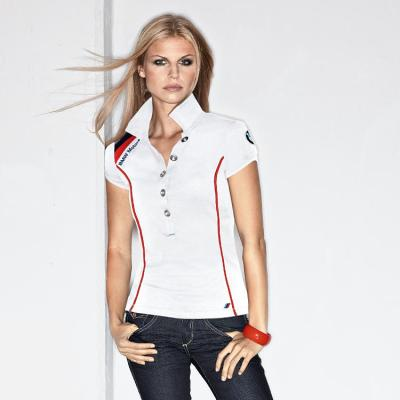 Женская рубашка поло BMW Ladies' Motorsport Polo Shirt White