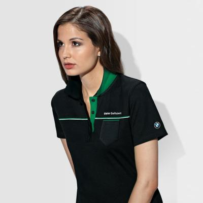 Женская рубашка поло BMW Ladies' Functional Polo Shirt Golfsport Black