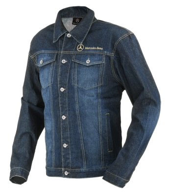Куртка мужская джинсовая Mercedes Men's Embroidered Denim Jacket, Trucker